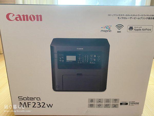 Canon レーザープリンター A4モノクロ複合機 Satera MF232w
