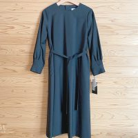 アトリエナルセ black formal A line one-piece dress / black